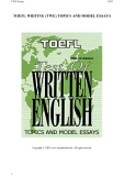 TOEFL Test of written English Topics and Model Essays