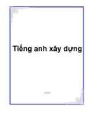 Tiếng anh xây dựng