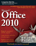 Microsoft Office 2010 Bible 3rd edition